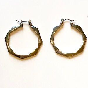 NY&Co Silver Geometric Hoop Earrings
